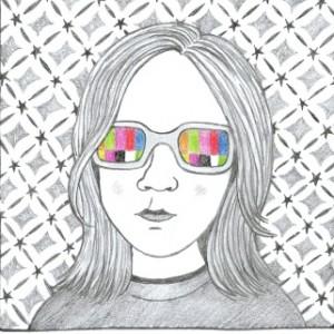 נערה במשקפיים. איור: רמונה אסול