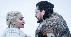 """ג'ון סנואו ודאיניריז, """"משחקי הכס"""", עונה 8, פרק 1, HBO/Helen Sloan"""